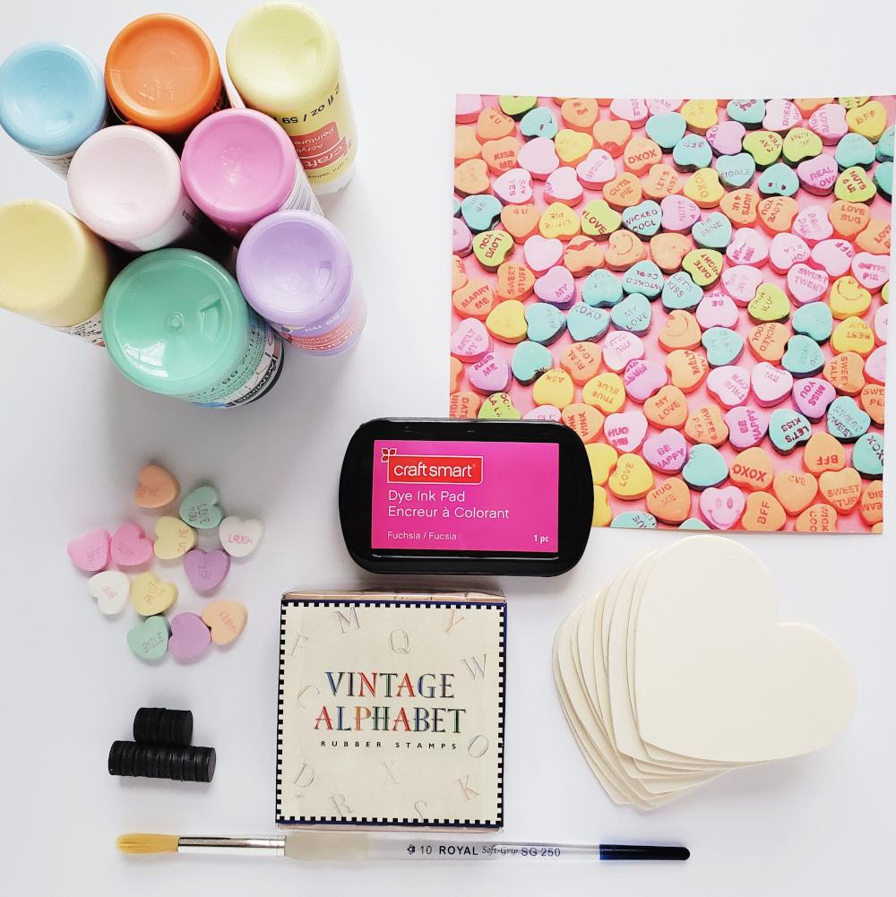Conversation Heart craft supplies