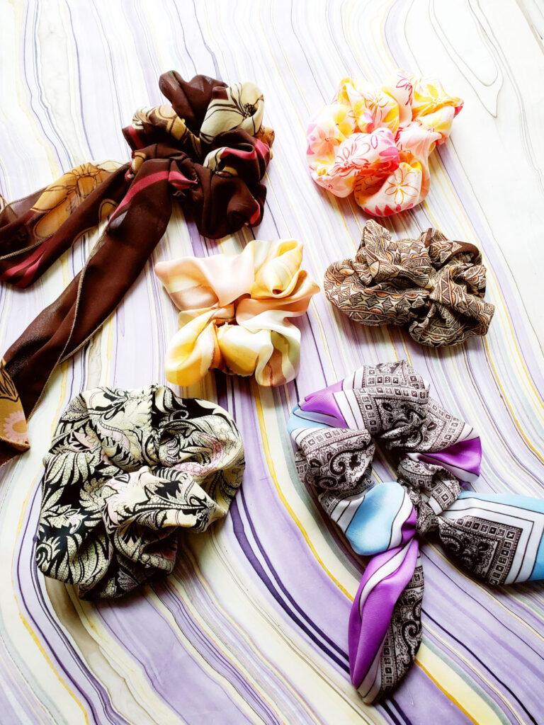 Scarf scrunchies