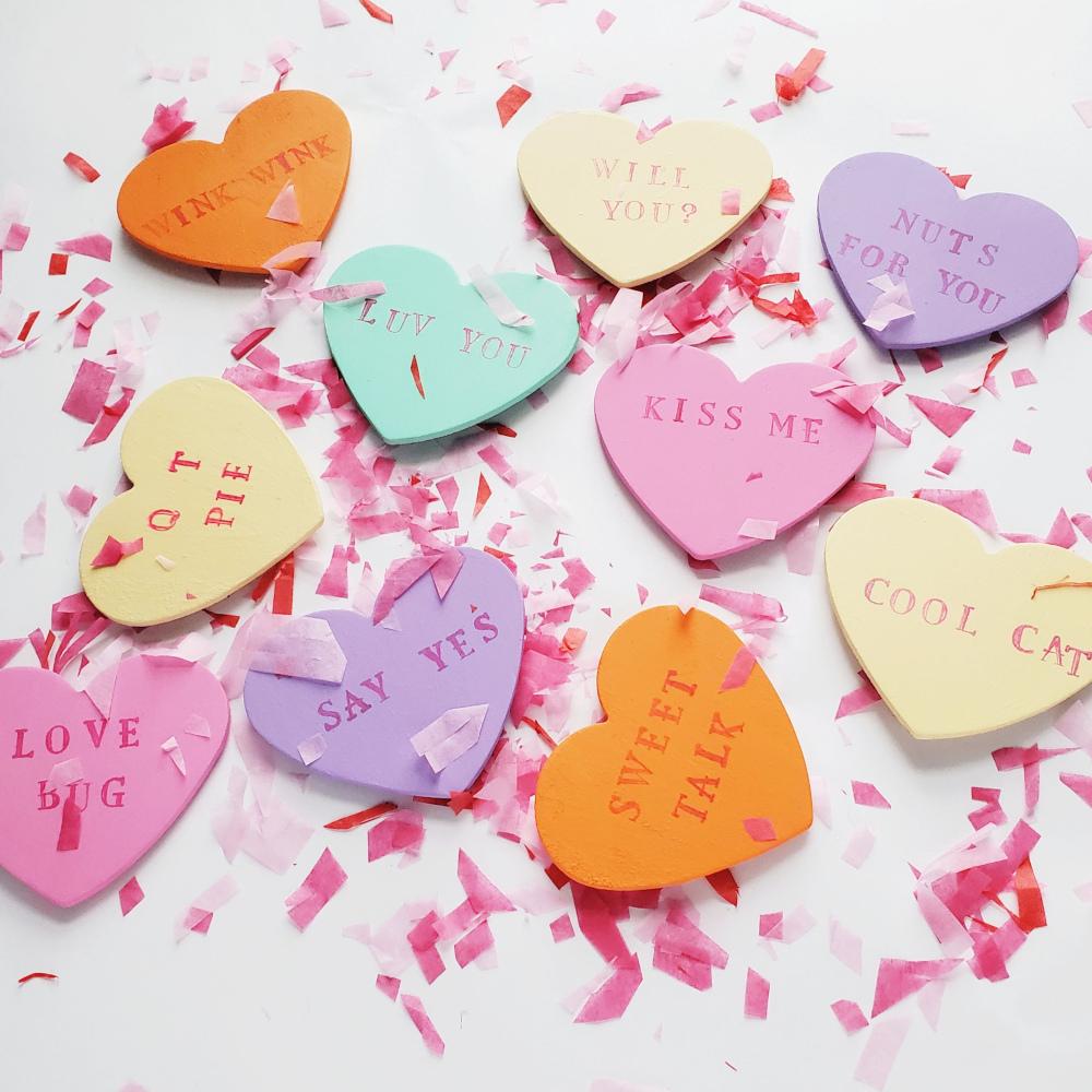 Conversation Heart Magnet craft
