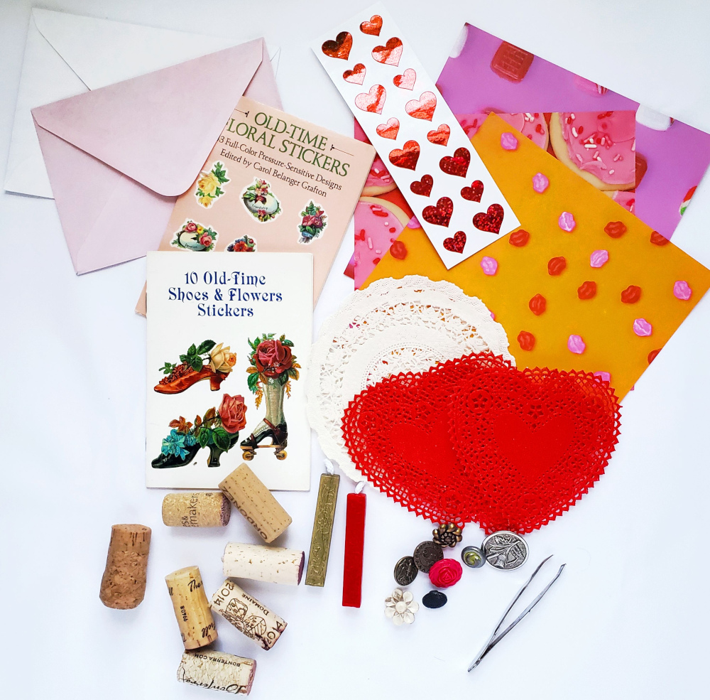 Supplies for making a wax seal stamp
