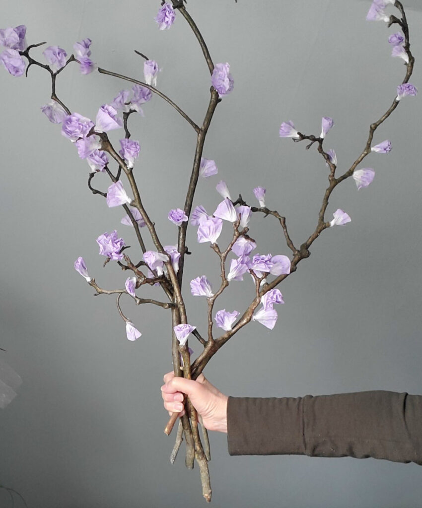 DIY Faux spring branches