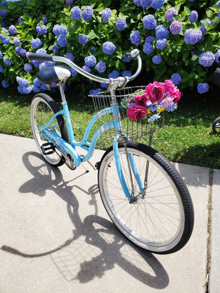 Bike basket flowers