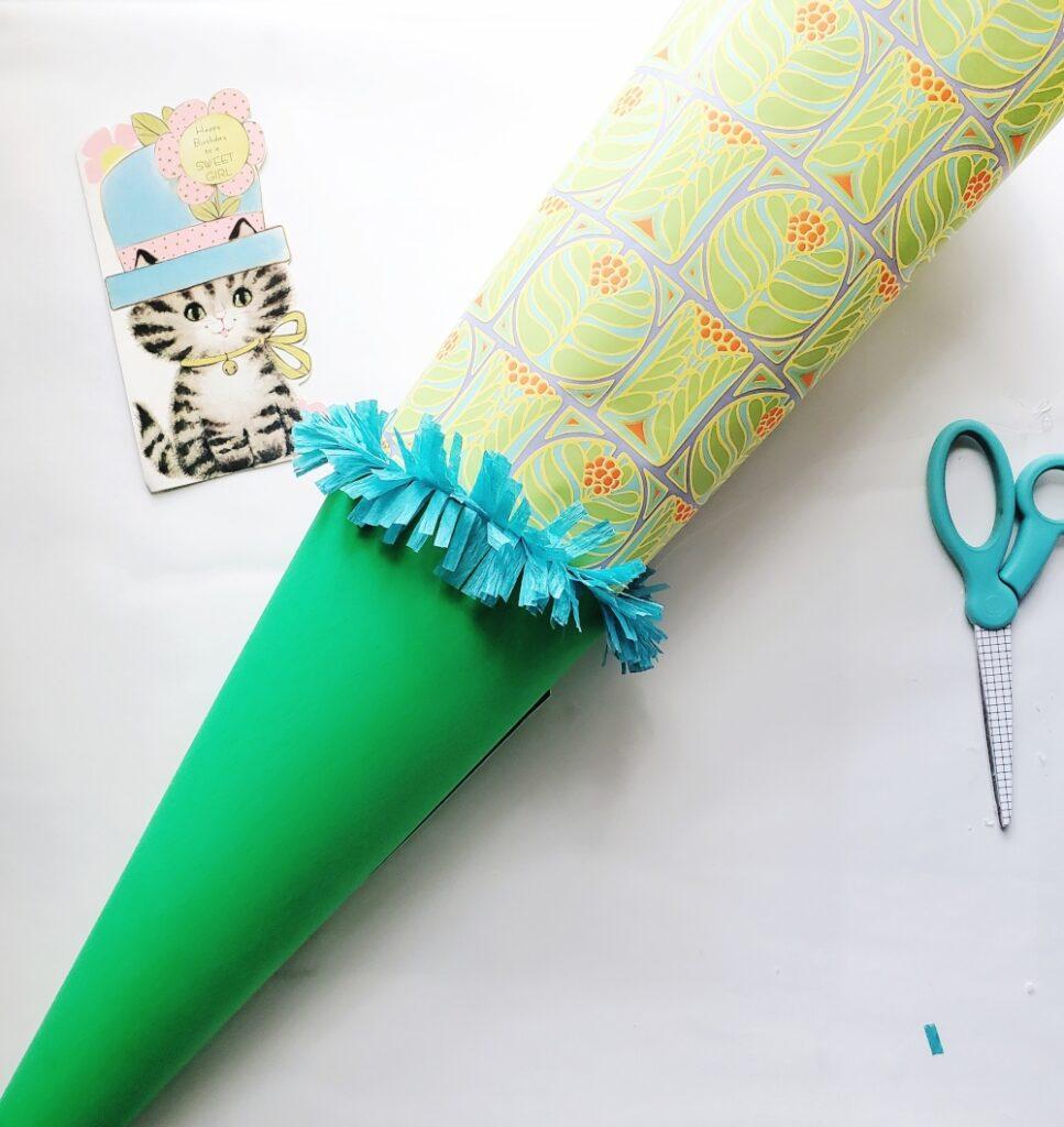 Back to school cone DIY